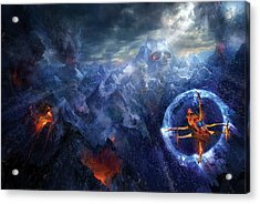 Flight Of The Dying Sun Acrylic Print by Philip Straub