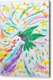 Flight Of The Hummingbird Acrylic Print