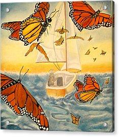 Flight Of The Monarchs Acrylic Print