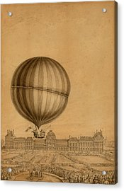 Flight Over Paris Acrylic Print