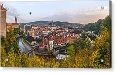 Flight Over The Medieval Town Acrylic Print