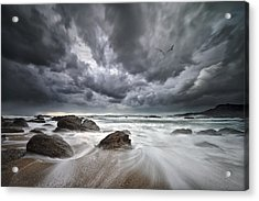 Flight Over Troubled Waters Acrylic Print by Santiago Pascual Buye