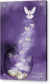 Acrylic Print featuring the mixed media Flight To Freedom by Jim  Hatch