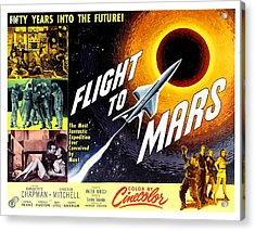 Flight To Mars, 1951 Acrylic Print