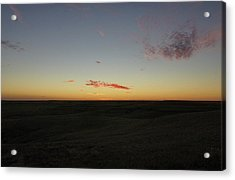Acrylic Print featuring the photograph Flint Hills Dusk by Thomas Bomstad