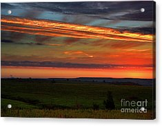 Acrylic Print featuring the photograph Flint Hills Sunrise by Thomas Bomstad