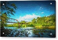 Flint River Acrylic Print by Marvin Spates