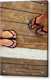 Flip Flops  Acrylic Print by JAMART Photography