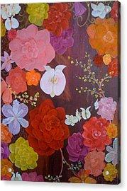 Flirty Blossoms Acrylic Print by Sabra Chili