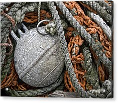 Float And Fishing Nets Acrylic Print by Carol Leigh