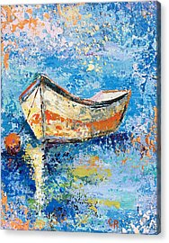 Acrylic Print featuring the painting Float by Chris Rice