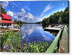 Acrylic Print featuring the photograph Floating Bridge At Covewood by David Patterson