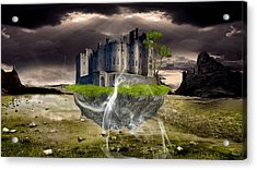 Floating Castle Acrylic Print by Marvin Blaine