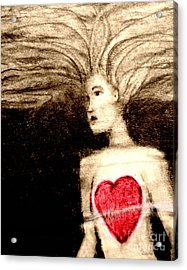 Floating Heart Acrylic Print