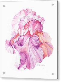 Floating Iris 1 Acrylic Print by Rachel Lowry