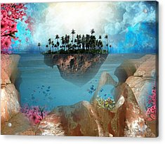 Floating Island Acrylic Print by Adrienne McMahon
