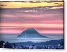Acrylic Print featuring the photograph Floating Mountain by Fiskr Larsen