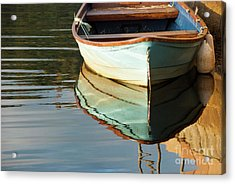 Acrylic Print featuring the photograph Floating On Blue 44 by Wendy Wilton