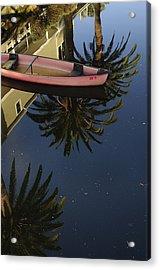 Floating On Palms Acrylic Print