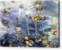 Floating Pond Leaves Acrylic Print