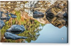 Acrylic Print featuring the photograph Floating Rocks by James Barber