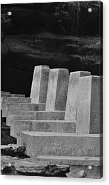 Floating Stone Staircase Acrylic Print by Peter  McIntosh