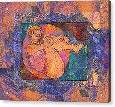 Floating Woman Acrylic Print by Mary Ogle