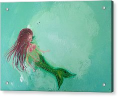 Floaty Mermaid Acrylic Print by Roxy Rich