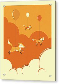 Flock Of Foxes Acrylic Print by Jazzberry Blue