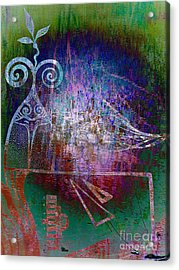 Flocking To Abstraction Acrylic Print