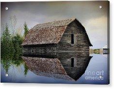 Flooded Barn Acrylic Print
