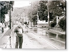 Flooded Streets Of Despair Acrylic Print by Jeff Porter
