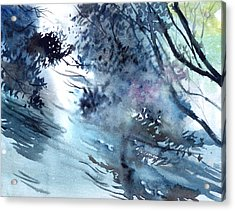 Flooding Acrylic Print by Anil Nene