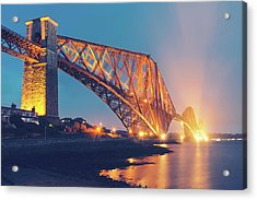 Floodlit Forth Bridge Acrylic Print