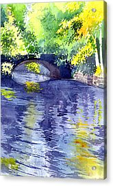 Acrylic Print featuring the painting Floods by Anil Nene