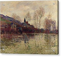 Floods At Giverny Acrylic Print by Claude Monet
