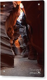 Floor Of Antelope Canyon Acrylic Print by Stan and Anne Foster