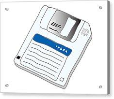 Floppy Disk Acrylic Print