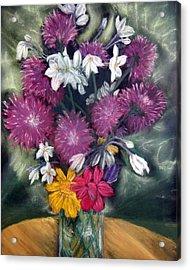 Flora Aura   Pastel Acrylic Print by Antonia Citrino