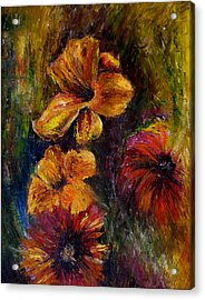 Flora Acrylic Print by Lou Ewers