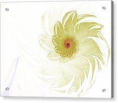 Acrylic Print featuring the digital art Flora by Richard Ortolano