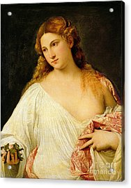 Flora Acrylic Print by Titian