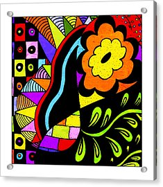 Floral #7 Acrylic Print by Susan Leggett