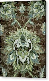 Floral Abstract Brown Tones Acrylic Print by Sandi OReilly