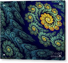 Acrylic Print featuring the digital art Floral Abyss by Sandra Bauser Digital Art