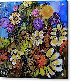Acrylic Print featuring the painting Floral Boquet by Suzanne Canner