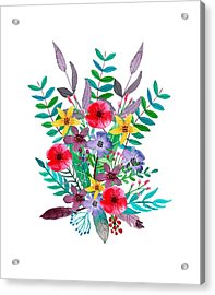 Floral Bouquet Acrylic Print by Amanda Lakey