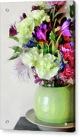 Floral Bouquet In Green Acrylic Print