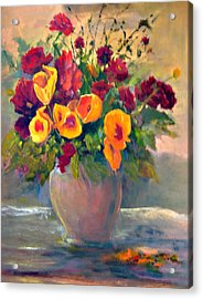 Floral Bouquet Acrylic Print by Jimmie Trotter