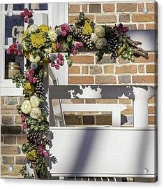 Floral Christmas Spray 02 Acrylic Print